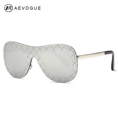 2fb23d217d AEVOGUE Sunglasses Men Conjoined Spectacle Reticulated Lens Rimless Copper  Frame Summer Style Sun Glasses With Box