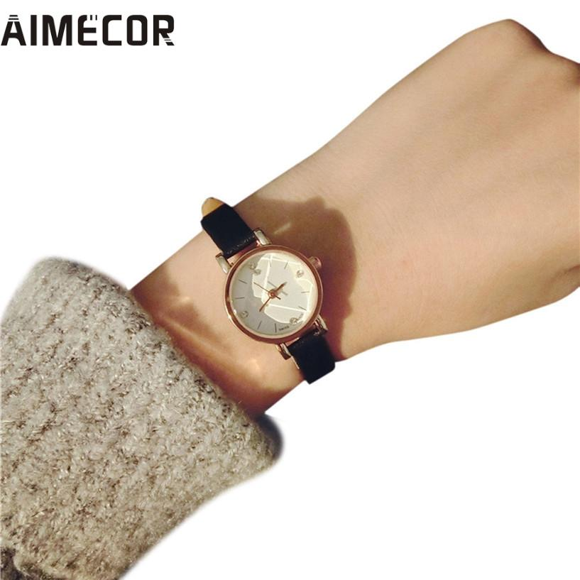 4ef464e34cb Aimecor NEW women watch small dial Simple Retro Girls Watch Dial Female  Table Belt Casual Wave relojes mujer women watches Write Review