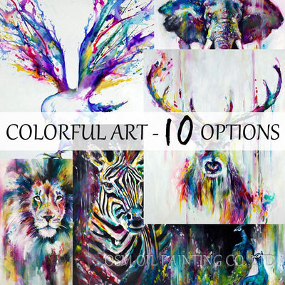 Best Selling Handmade Items Colorful Abstract Paintings Animals Oil Painting Deer Oil Painting Canvas Wall Decor Home Decor Art
