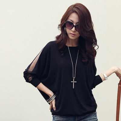 Blusas Camisas Femininas 2016 Bat Sleeve Shirt Women Blouses Vintage Plus Size Clothing Korean Tops Ropa Mujer Vetement Femme Blouses & Shirts Song Li fashion wardrobe- upcube