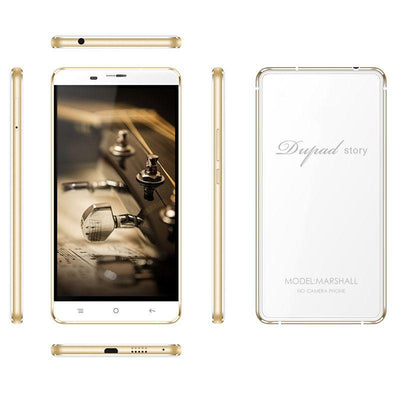 DUPAD STORY Marshall 4G LTE No Camera with GPS Smartphone 3GB RAM 16GB ROM MTK6753 Octa-core 1920*1080 5.5 inch FHD Screen