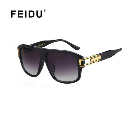 c4d16adbeb3 FEIDU Fashion Men Square Sunglasses Brand Designer Sunglasses women Vintage  Big Frame Glasses Hollow Legs Oculos