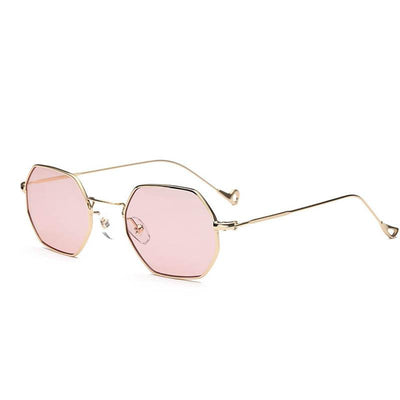 72f1d2ab72 Fashion Women Sunglasses Small frame polygon Clear lens Sunglasses Brand  Designer Men vintage Sun Glasses Hexagon