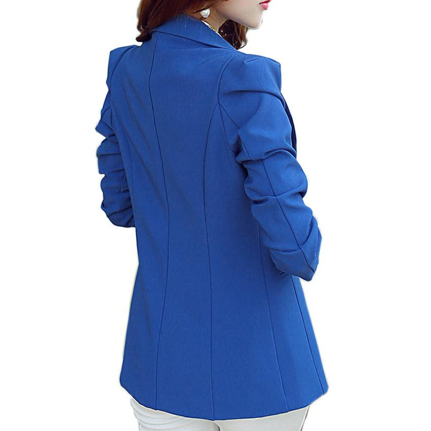 (Green Blue Black) Women Blazers And Jackets Long-sleeved Suit Ms. Blazer Femme Blaser Feminino Casual Blazer For Ladies - Dailytechstudios