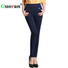 {Guoran}2017 Winter office work pants women Warm Fleece High Waist pencil pants Stretch black White trousers Plus Size Leggings