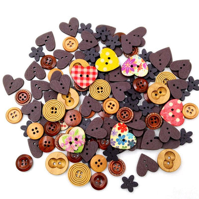 100PCS 2 Holes Wood Buttons Sewing Scrapbooking Mixed Colors Christmas stocking G03 Drop ship  UpCube- upcube