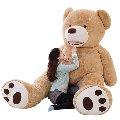 100cm-200cm America Giant Teddy Bear Plush Toys Soft Teddy Bear Skin Popular Birthday & Valentine's Gifts For Girls Kid's Toy  UpCube- upcube
