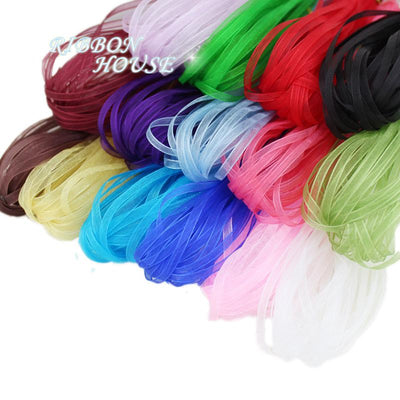(15 colors mixed) 1/8''(3 mm) organza ribbons wholesale gift wrapping Christmas ribbons - Dailytechstudios