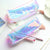 (1pcs/sell) PVC Dream Laser Womens Travel Cosmetic Bags High Quality Makeup Bag Make Up Bag Neceser Luxury Brand Famous Brands
