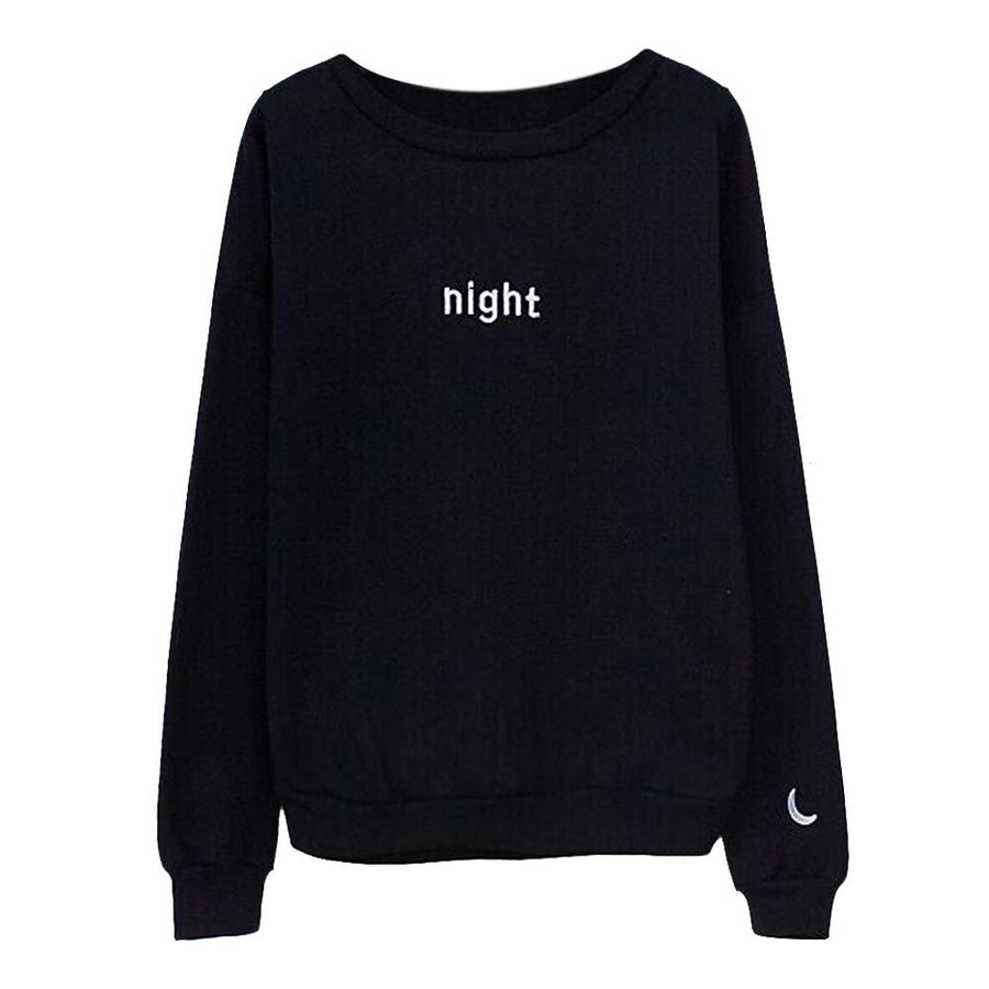 2017 New Europe and the United States Sweatshirts Original Letters Day Sun&Night Moon O-collar Long Sleeved Cute Lovers Hoodies
