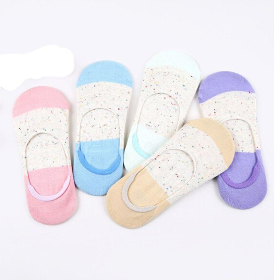 2018 summer comfortable cotton bamboo fiber girl women's socks ankle low female invisible color girl 1pair=2pcs