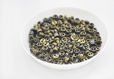 100PCS 3mm 4mm 5mm 6mm 7mm 8mm Metal Super Small Mini Tiny Buttons DIY for Doll / Baby Child Clothing Sewing Accessories BUTTON  UpCube- upcube