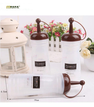 1PC 250ml 340ml New Kitchen Plastic Squeeze Bottle Condiment Dispenser for Sauce Vinegar Oil Ketchup Cruet Bottles OK 0500  UpCube- upcube