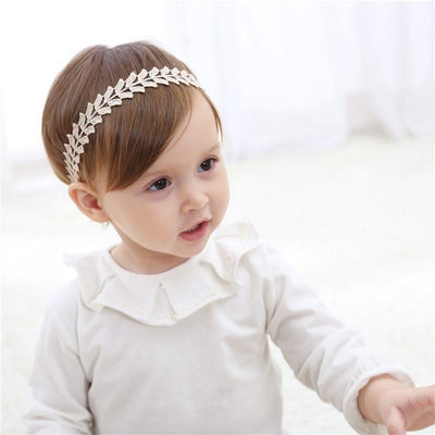 1 PCS Creative Cute Golden Butterfly Leaves Hairbands Girls Headwear Children Headbands Elastic Hair Bands Kids Hair Accessories - Dailytechstudios