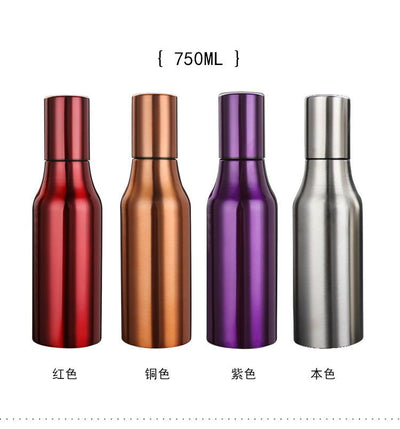 1PC 750ml 304 Stainless Steel Oil dispenser Kitchen tools oil tank storage bottles and cans water proof J1452-2  UpCube- upcube