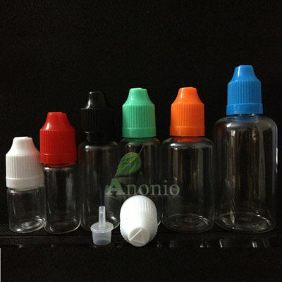 100pcs E Liquid Bottle PET 30ml Dropper Bottles Recycling Plastic Dropper Bottles With Childproof Cap Mini Bottle  UpCube- upcube