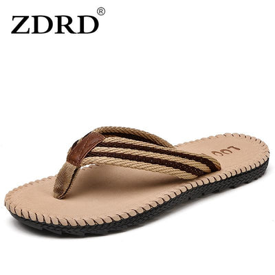 98e7995b242 ZDRD Summer Fashion Brand Men s Flip Flops Sandals Rubber Sole Beach male  slippers Mens Casual Comfortable