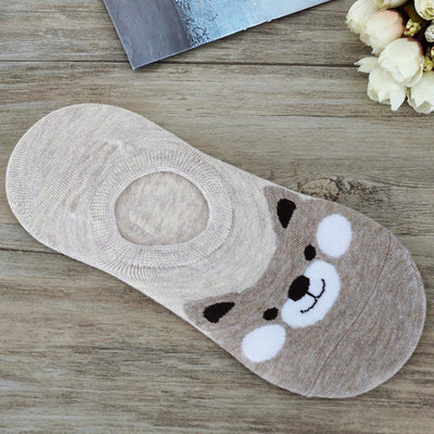 1Pairs Women Comfortable Cartoon Cute Cotton Sock Slippers Short Ankle Socks Women's short socks New Fashion Panda sock 2017