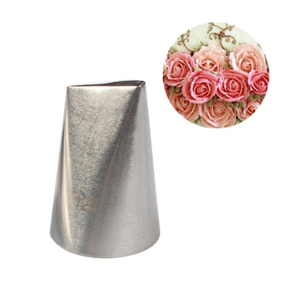 #128 Large Rose Metal Ream Tips Pastry Tools Stainless Steel Icing Piping Nozzles Cupcake Cake Cream Decoration - Dailytechstudios