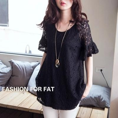 Blusas de renda summer style 2017 lace blouse vintage black short sleeve plus size 5XL women shirts femal blouses tops XXXXXL  UpCube- upcube