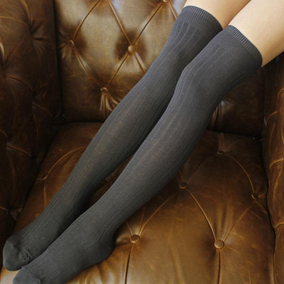 1 pair Solid Colors Knitted Sexy Stocking Women Warm Thigh High Over the Knee Socks Fashion Ladies Stockings NQ951395 - Dailytechstudios