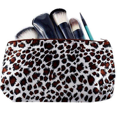 1PCS New Fashion Leopard Travel Cosmetic bags Women necessaries Designer Makeup bag organizer toiletry bag  dailytechstudios- upcube