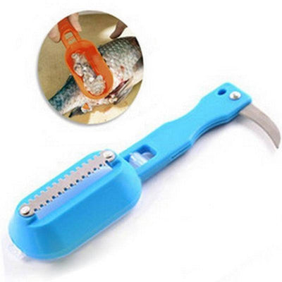 1Pcs kitchen tool cleaning fish skin steel fish scales brush shaver Remover Cleaner Descaler Skinner Scaler fishing tools knife  dailytechstudios- upcube