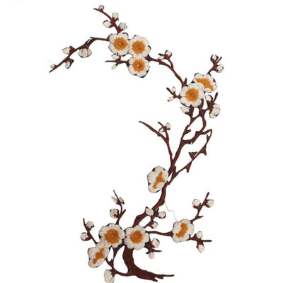 1PCS Plum Blossom flower sew Iron On patches for clothing Applique Embroidery for clothes Sticker Sewing patch Repair Accessory  UpCube- upcube