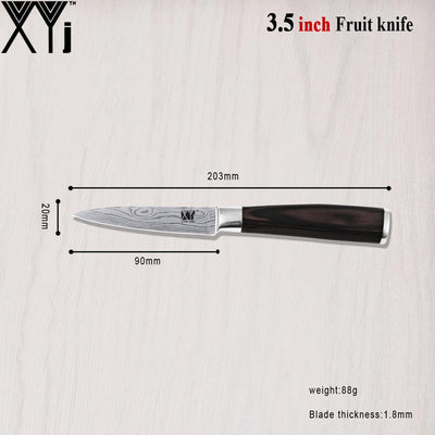 "Best Stainless Steel Knife 3.5""Paring 5""Santoku 5""Utility 8""Chef 8""Slicing Knife 5 Pieces Cooking Tools Wave Veins Kitchen Knife  UpCube- upcube"