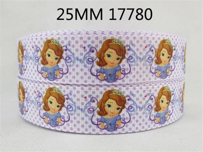 "(5yds per roll) 1""(25mm) Cartoon high quality printed polyester ribbon 5 yards,DIY handmade materials,wedding gift wrap,5Yc1677 - Dailytechstudios"