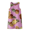 Bestime Summer Girl Dress Pink Pineapple Children Shift Dress Sleeveless Cotton Sarafan Kids Clothes  UpCube- upcube