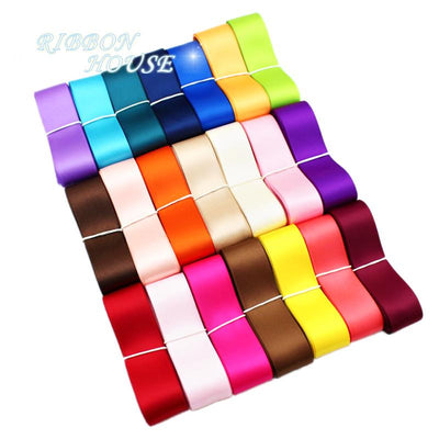 (24 colors mixed) 20mm double face satin polyester ribbons wholesale Christmas Ribbons 1 lot=24 yards - Dailytechstudios