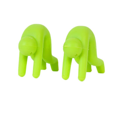 1Pcs Little Man Raising Pot Cover Silicone Spill-proof Anti-overflowing Tools Cell Phone Holder Cooking Tools  UpCube- upcube