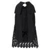 Summer Halter Tops Women Lace Crochet Tank Tops 2018 Sexy Bow Backless Vest Casual Solid Black White Hollow Out Blusa Femininas