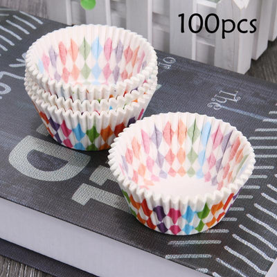 100pcs Cupcake Liner Baking Cups Cupcake Mold Party Tray Cake Mold Paper Cases Cake Decorating Bakeware Baking Pastry Tools  UpCube- upcube
