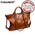 100% Oil Wax Genuine Leather Women Totes Large Capacity Design Hand Bag Practical Travelling Bag Commute Bag Hot Shoulder Bag