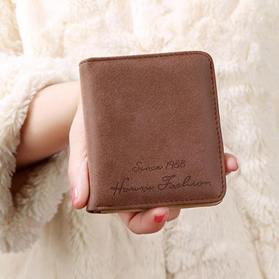 (1pcs) Wallets and Purses Women Leather Genuine Small Famous Brand for Credit Cards Cards Holder Clutch Fashion Standard Wallet - Dailytechstudios