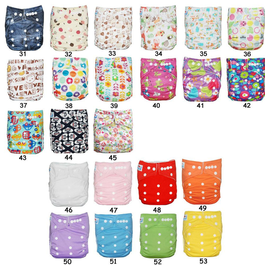 (14pcs A Lot) BIG DISCOUNT for Christmas Bamboo Charcoal Cloth Diapers Shells Pocket Diaper Covers