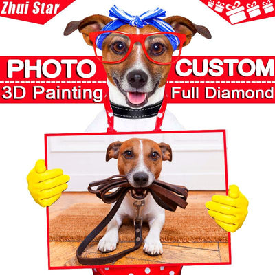 """Photo custom"" DIY Diamond Embroidery! 5D,Private custom,Diamond Painting 3D Home Decor Gift ""Can make any photos and size!!! "" - Dailytechstudios"