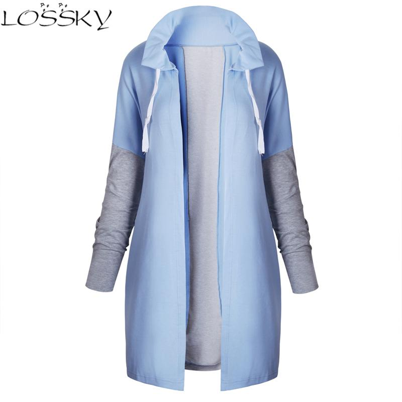 2017 Larger Size Women Irregular Hem Tie Collar Sweatshirt Casual Knitted Patchwork Female Zip-up Coat Fashion Outwear Plus size