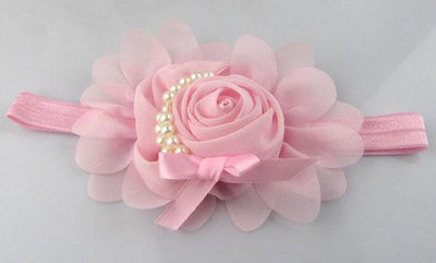 1PCS Lovely Girls Hair Accessories Headband Ribbon Rose Hair Band Unusual Angel Girls Pearl Flowers Hairband #48  UpCube- upcube