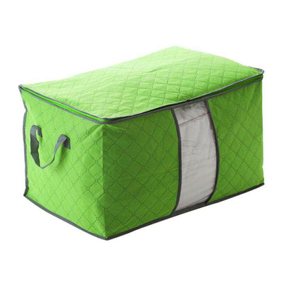 1PC 60*42*36 Large Size Foldable Storage Bag Clothes Blanket Pillow Quilt Closet Sweater Box Pouch Organizer 4 Colors -15