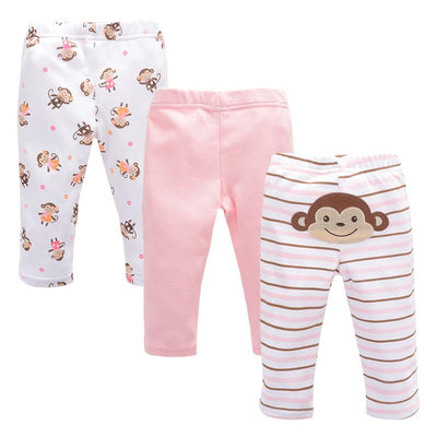 100%cotton Baby Pants 3 Piece Cartoon Brand Baby 2017 Winter New Baby Fashion Children's Leggings Boys Pants Baby Girls Pants