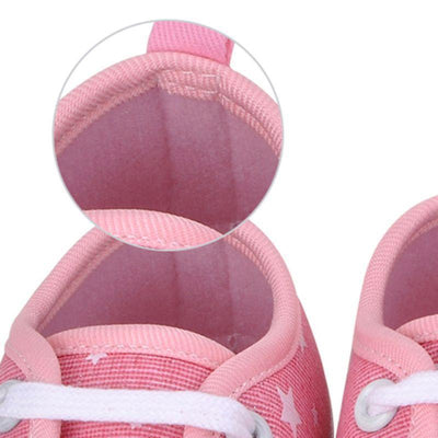 0-18M Newborns Baby Soft Sole Kids Shoes Toddler Canvas Prewalker Lace Up Sneaker - Dailytechstudios