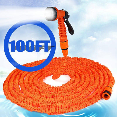 100ft 75FT 50FT 25FT Expandable Magic Flexible Hose Water for Garden Car Pipe Plastic Hoses to Watering with Spray Gun  UpCube- upcube