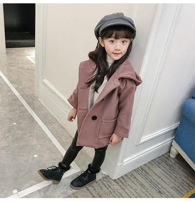 2017 girls jackets and coats autumn winter hooded princess fashion baby clothes children's windbreakers outwear  UpCube- upcube