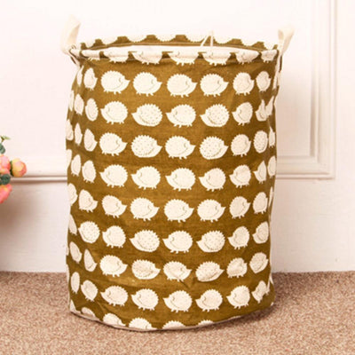 1 PCS/Lot Foldable Laundry Basket Bag Cotton&Linen Hamper Storage Washing Clothes 40cm*50cm/15.7''*19.6'' - Dailytechstudios