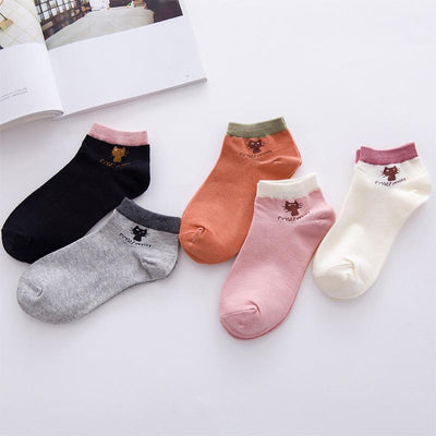 1Pair New Cartoon Cute Candy Colorful Comfortable Cotton Women Invisible Low Ankle Socks All Season Wear Girls Boys Hosier  dailytechstudios- upcube
