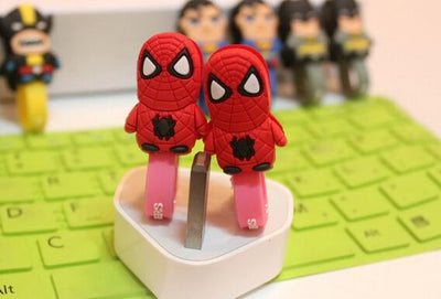 100PCS Cute Cartoon Universal Earphone Headset USB Silicone Rubber Cable Bobbin Winder Cable Holder Organizer With Buttons  UpCube- upcube