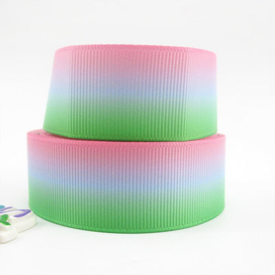 "(5yds per roll) 1""(25mm) gradient high quality printed polyester ribbon 5 yards,DIY handmade materials,wedding gift wrap,5Y49637 - Dailytechstudios"